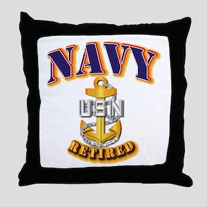NAVY - CPO - Retired Throw Pillow