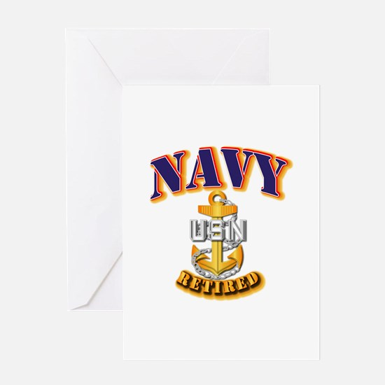 NAVY - CPO - Retired Greeting Card
