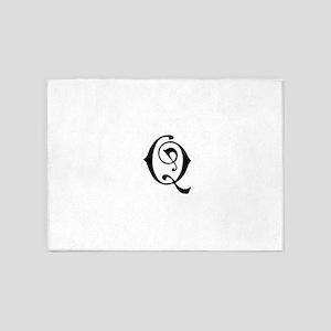 Royal Monogram Q 5'x7'Area Rug