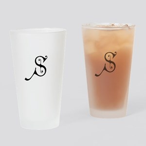 Royal Monogram S Drinking Glass