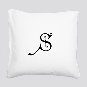 Royal Monogram S Square Canvas Pillow