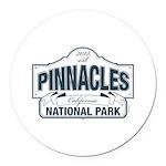Pinnacles National Park Round Car Magnet