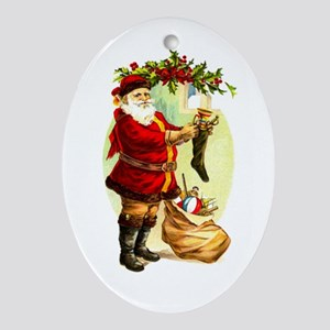 Vintage Santa Claus - Hanging Stockings Ornament (