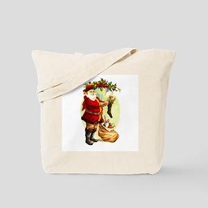 Vintage Santa Claus - Hanging Stockings Tote Bag