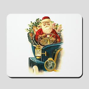 Vintage Santa Claus in a Classic Car Mousepad
