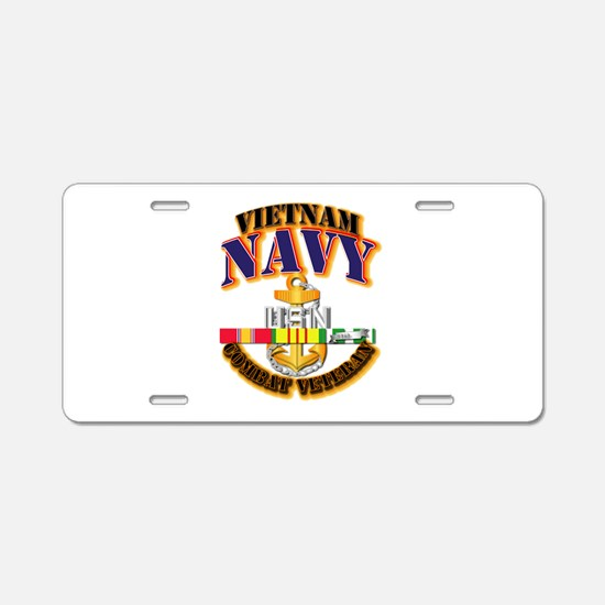 NAVY - CPO w VN SVC Aluminum License Plate