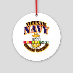 NAVY - CPO w VN SVC Ornament (Round)