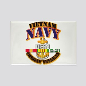 NAVY - CPO w VN SVC Rectangle Magnet