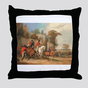 Getting Ready for the Hunt Throw Pillow