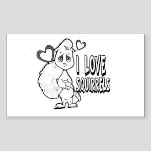I Love Squirrels Sticker