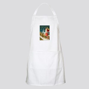 Santa Down the Chimney BBQ Apron
