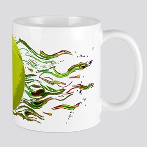Tennis Ball Flames Artistic US Open Wimbleton Mug