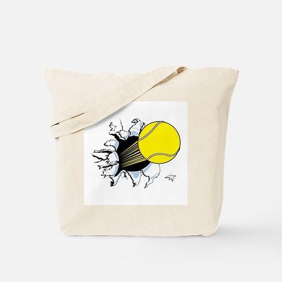 Tennis Ball Ripping Through Tote Bag