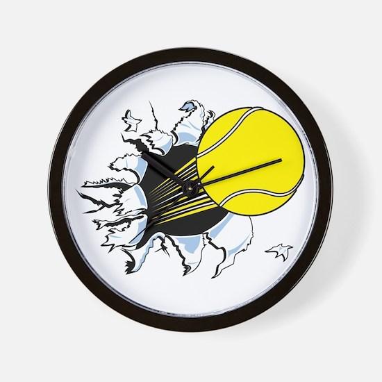 Tennis Ball Ripping Through Wall Clock