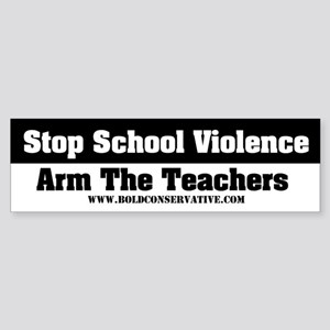 'Stop School Violence... Bumper Sticker