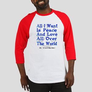 Peace, Love & Money Baseball Jersey