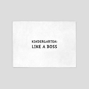 Kindergarten Like A Boss 5'x7'Area Rug