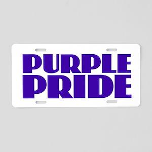 Purple Pride Aluminum License Plate