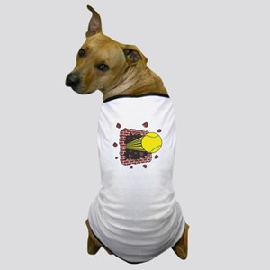 Tennis Ball Through Brick Wall Dog T-Shirt