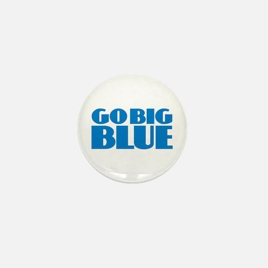 Go Big Blue Mini Button