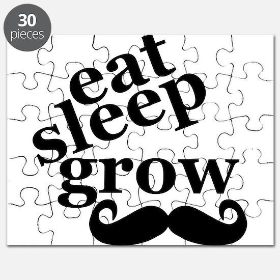 eat sleep grow moustache Puzzle