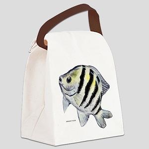 Sergeant Major Fish Canvas Lunch Bag