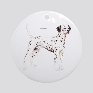 Dalmatian Dog Ornament (Round)