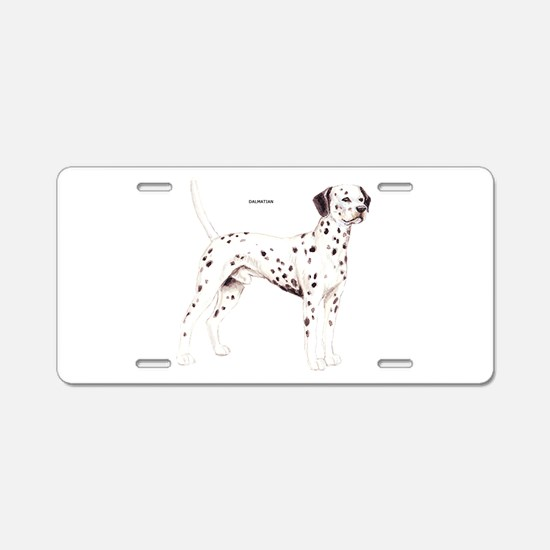 Dalmatian Dog Aluminum License Plate
