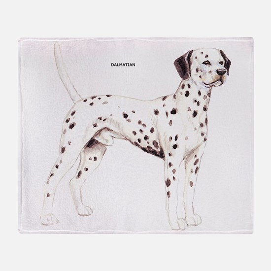Dalmatian Dog Throw Blanket
