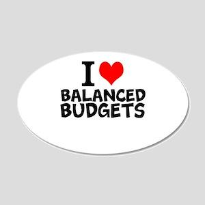 I Love Balanced Budgets Wall Decal