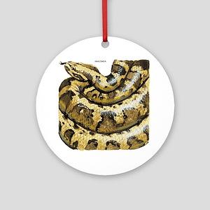 Anaconda Snake Ornament (Round)