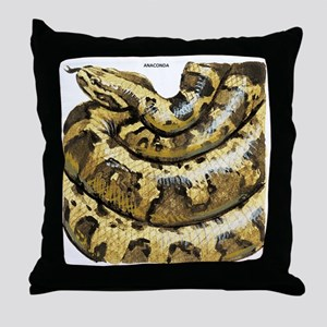 Anaconda Snake Throw Pillow