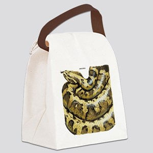 Anaconda Snake Canvas Lunch Bag