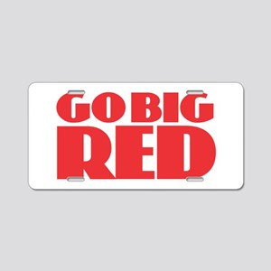 Go Big Red Aluminum License Plate