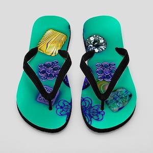 Flip Flops-Buttons & Filigree