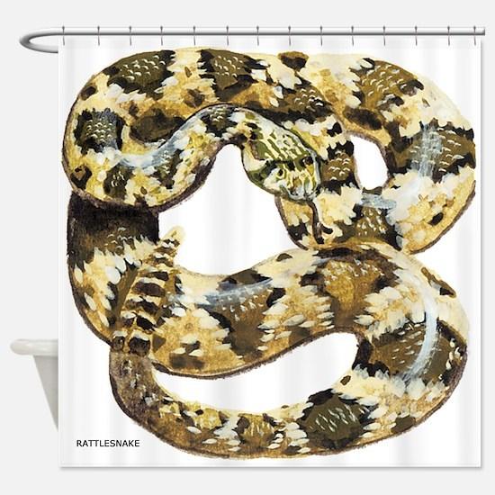 Rattlesnake Snake Shower Curtain