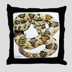Rattlesnake Snake Throw Pillow
