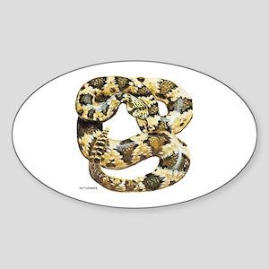 Rattlesnake Snake Sticker (Oval)