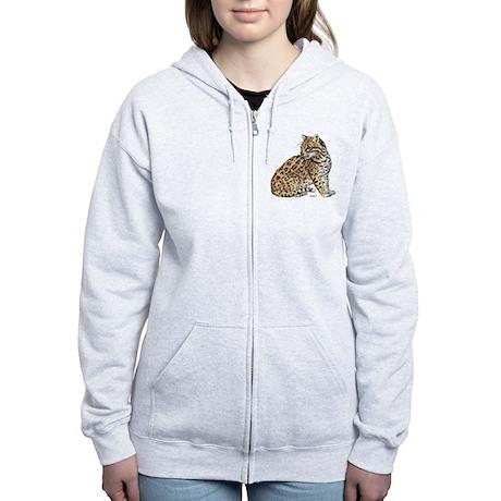 Ocelot Wild Cat Women's Zip Hoodie