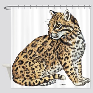 Ocelot Wild Cat Shower Curtain