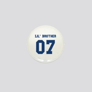 Blue Lil' Brother 07 Mini Button