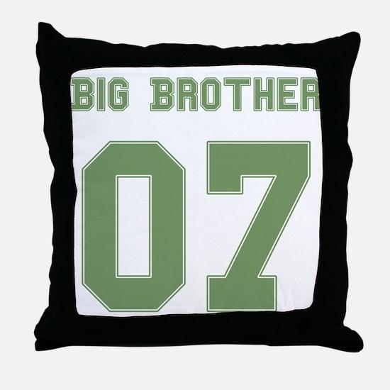Green Big Brother 07 Throw Pillow