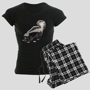 Skunk Animal Women's Dark Pajamas