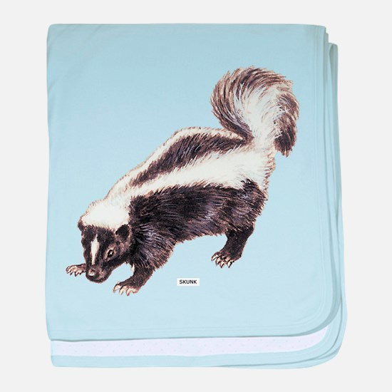 Skunk Animal baby blanket