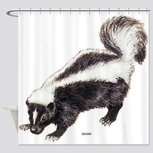 Skunk Animal Shower Curtain
