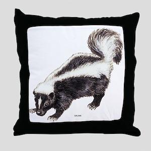 Skunk Animal Throw Pillow