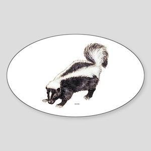 Skunk Animal Sticker (Oval)