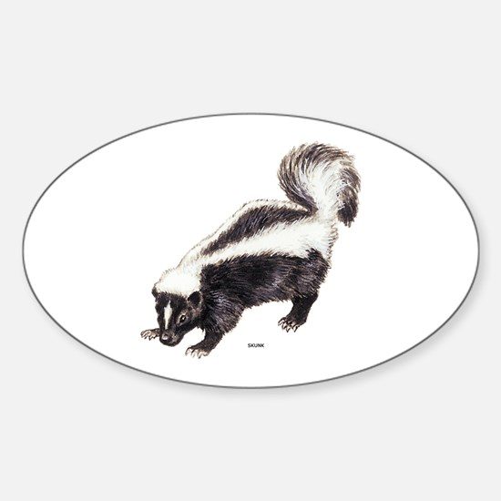 Skunk Animal Sticker (Oval)