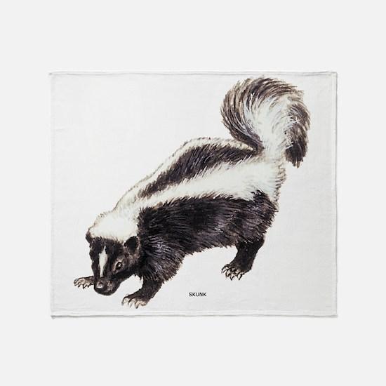 Skunk Animal Throw Blanket