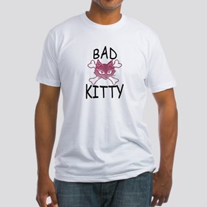 Bad Kitty Fitted T-Shirt